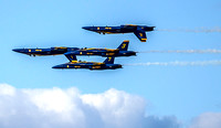 Blue Angels practice over the Bay